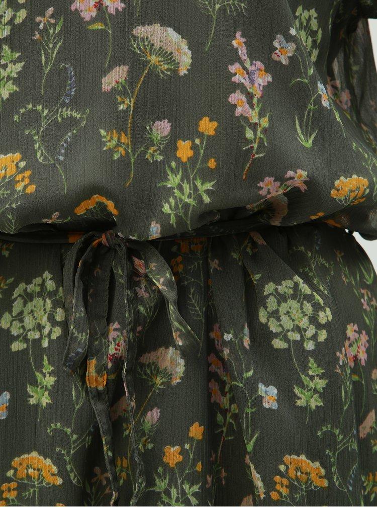 Zelené květované šaty Jacqueline de Yong Jennifer