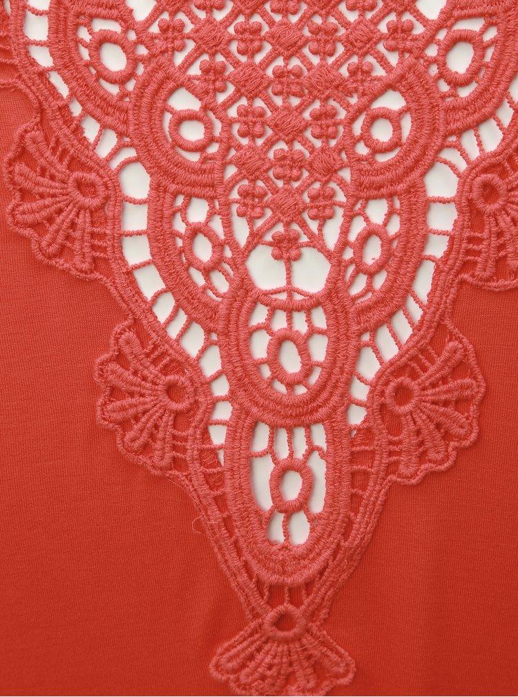 Červený top s krajkou na zádech ONLY Flovely