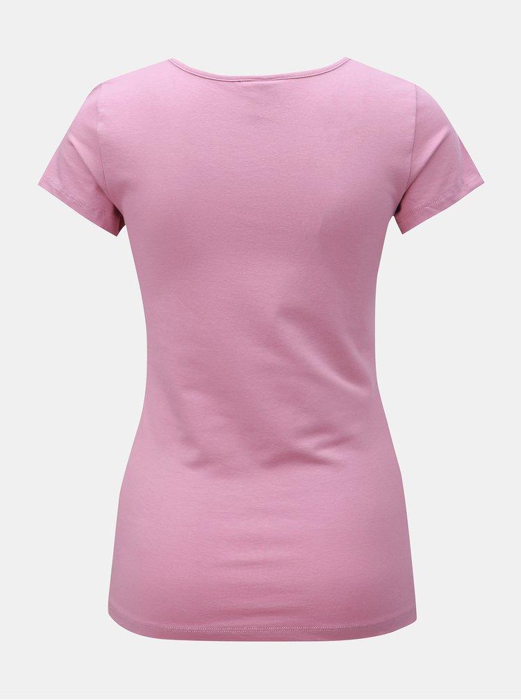 Starorůžové basic tričko VERO MODA Maxi