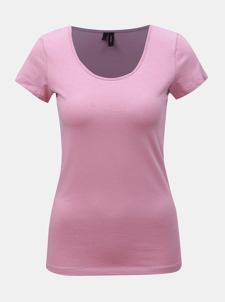Staroružové basic tričko VERO MODA Maxi