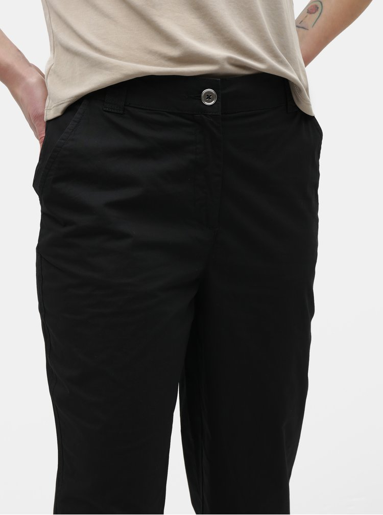 Černé zkrácené kalhoty Dorothy Perkins