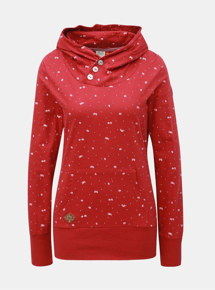 Červená dámska vzorovaná mikina Ragwear Chelsea Bugs