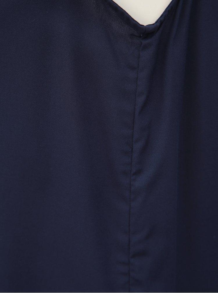 Tmavě modrý top VERO MODA Simply