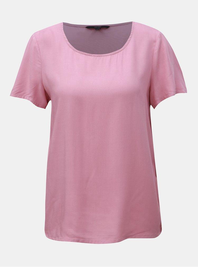 Tricou basic roz prafuit VERO MODA Simply