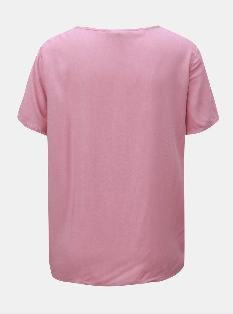 Staroružové basic tričko VERO MODA Simply