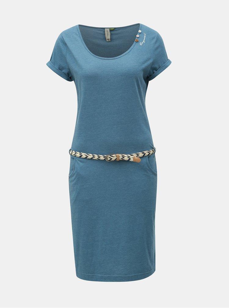 Modré šaty s opaskom Ragwear Montana