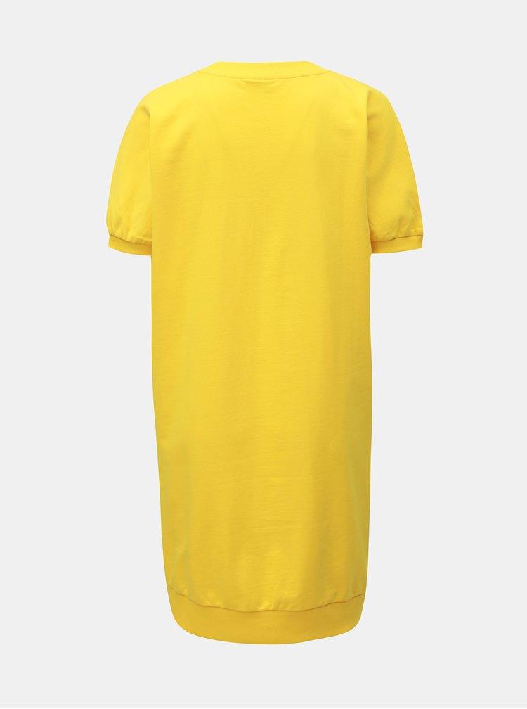 Žlté mikinové basic šaty Noisy May