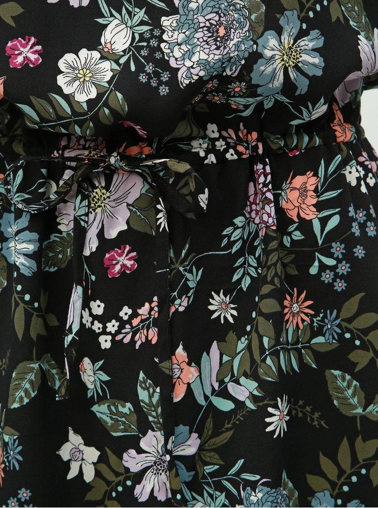 Černé květované šaty VERO MODA Simply