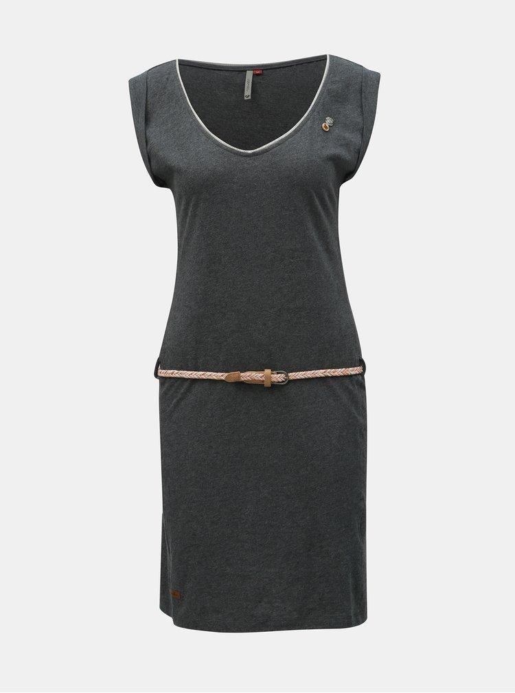 Tmavosivé šaty s opaskom Ragwear Slavka