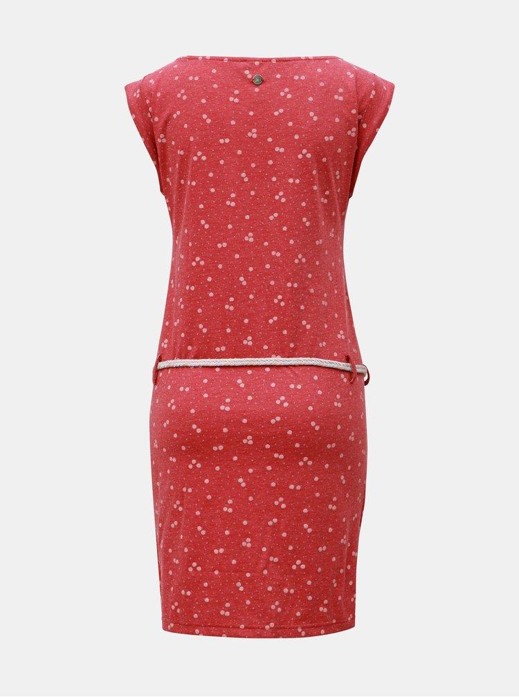 Rochie rosie cu model si cordon Ragwear Tag