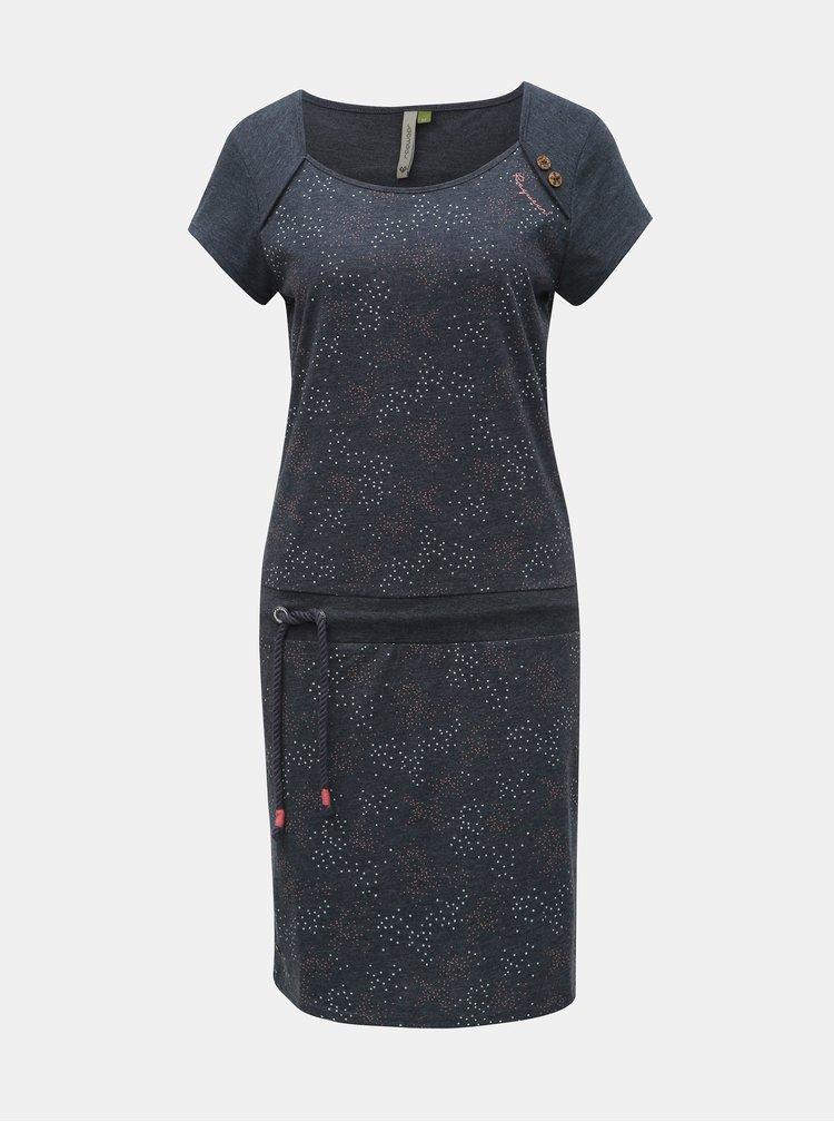 Tmavě modré vzorované šaty se zavazováním Ragwear Mike
