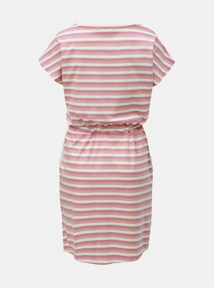 Růžové pruhované šaty s kapsami VERO MODA April
