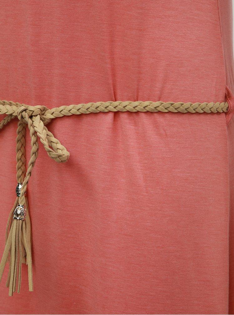 Růžové vzorované maxišaty Ragwear Tag
