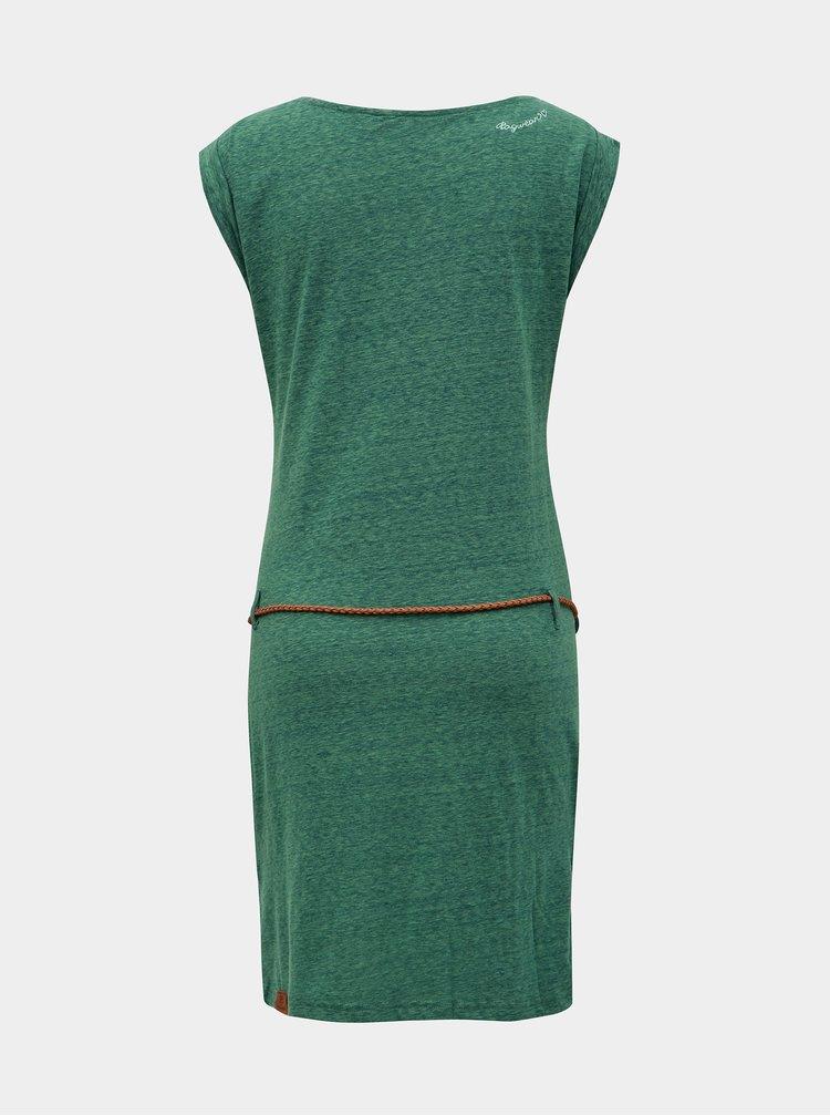 Zelené žíhané šaty s páskem Ragwear Tag