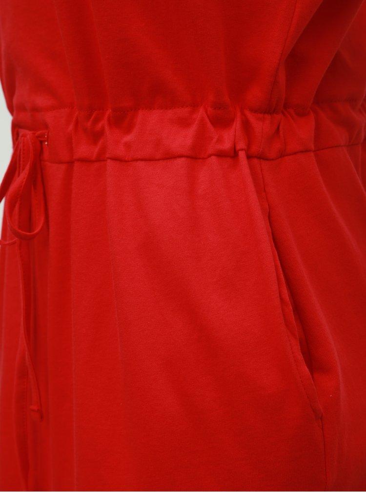 Červené šaty s kapsami VERO MODA April