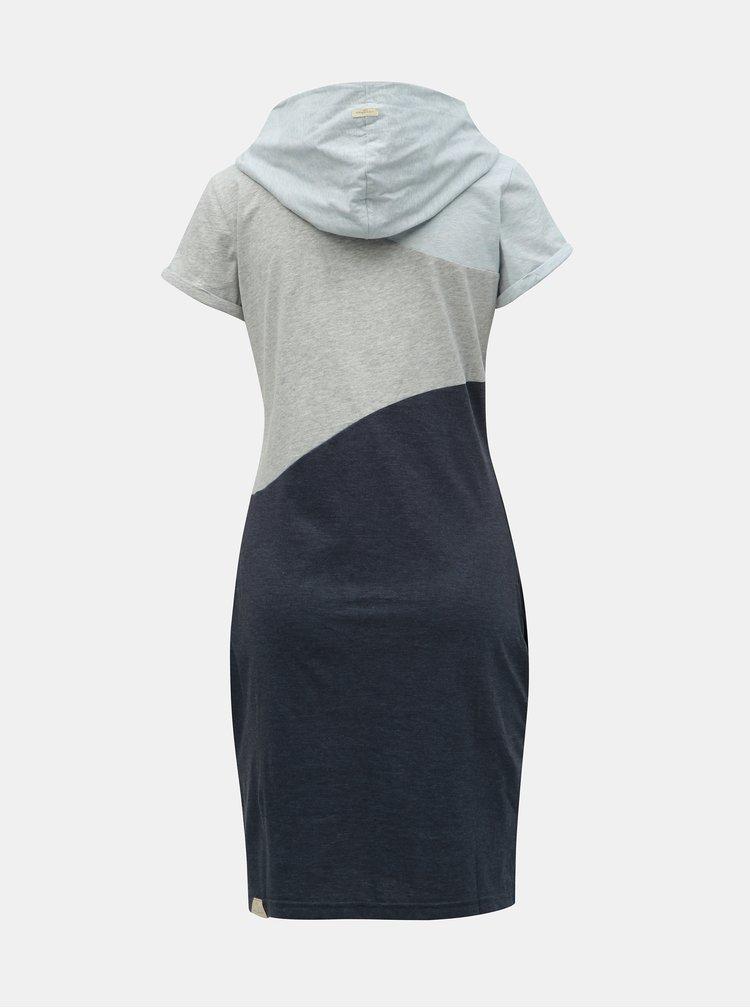 Rochie gri-albastru melanj Ragwear Chelsea