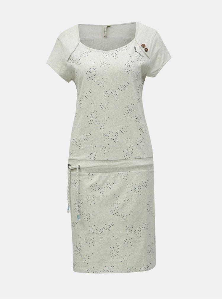 Krémové vzorované šaty Ragwear Mike