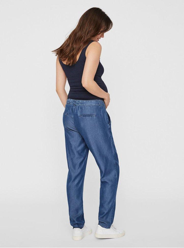Modré těhotenské volné džínové kalhoty Mama.licious Lydia