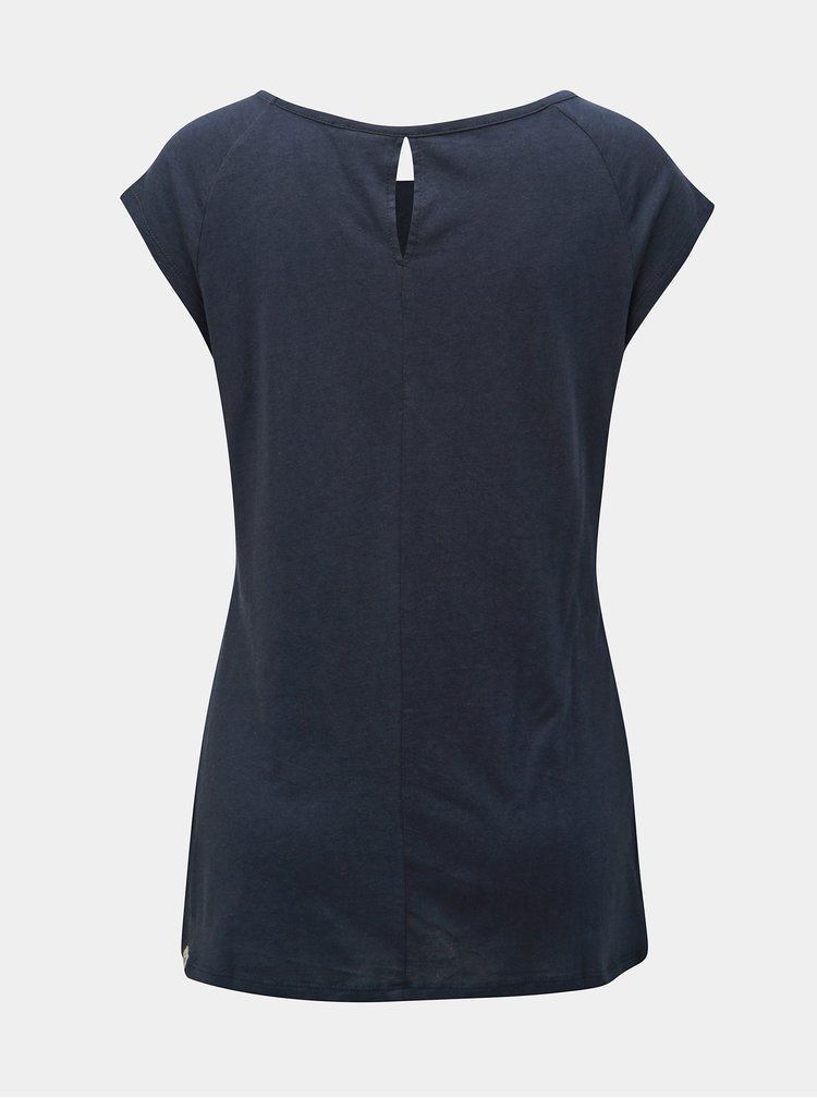 Tricou albastru inchis de dama cu imprimeu Ragwear Sea Breeze