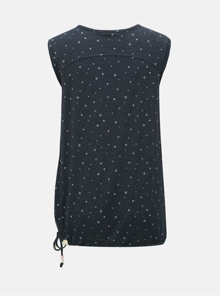 Tmavě modré dámské vzorované tričko Ragwear Mike