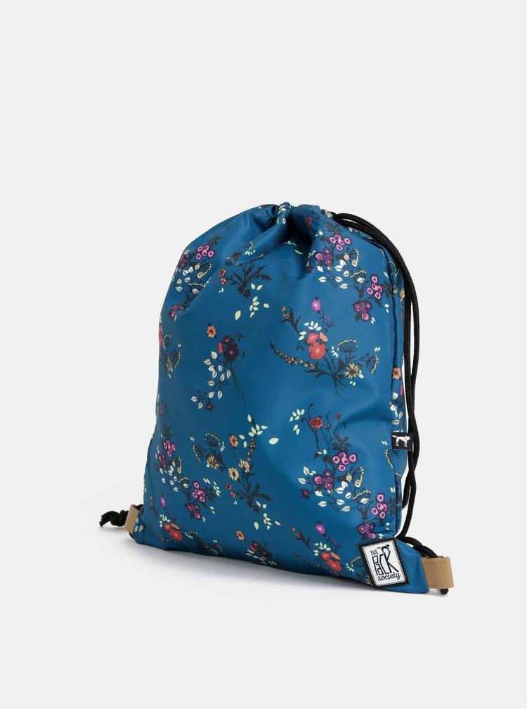 Sac de dama petrol floral impermeabil The Pack Society