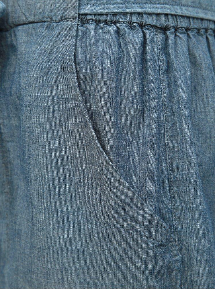 Pantaloni scurti albastri cu talie inalta VERO MODA Emily