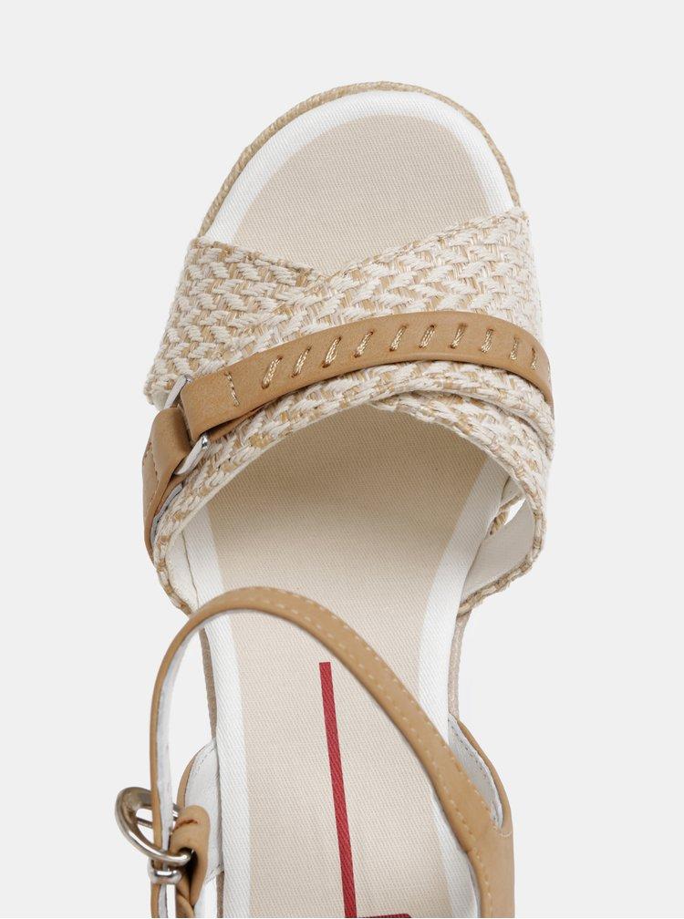 Světle hnědé sandály na klínku U.S. Polo Assn.