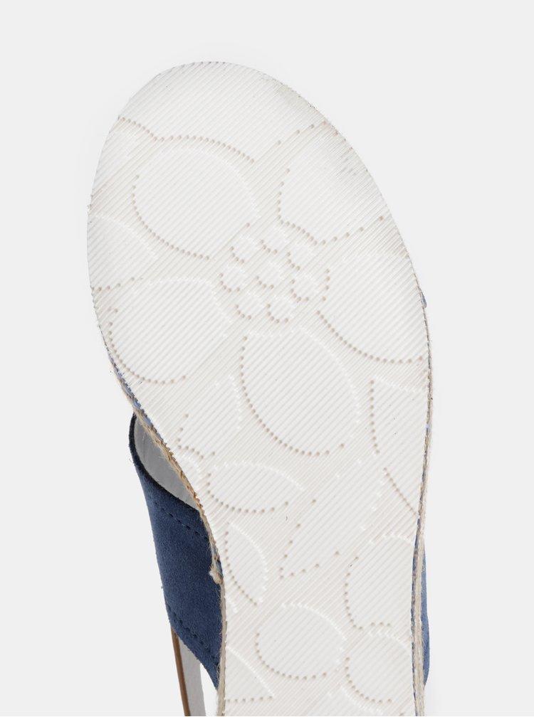 Sandale albastre de dama din piele intoarsa U.S. Polo Assn.