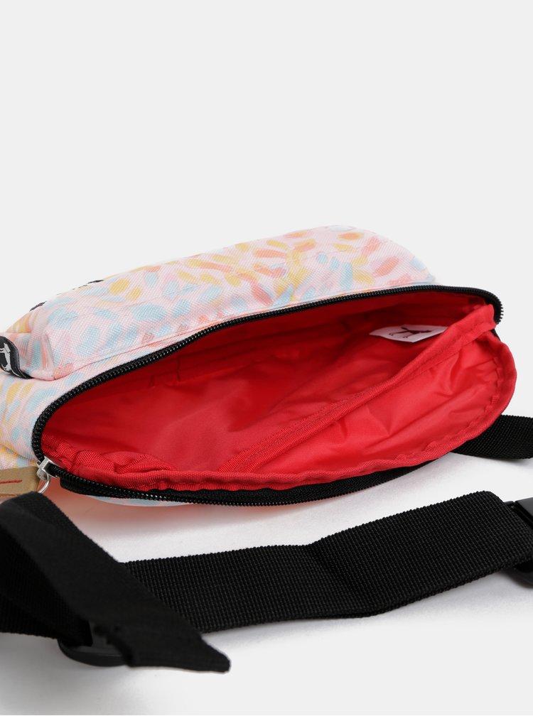 Světle růžová dámská vzorovaná ledvinka The Pack Society