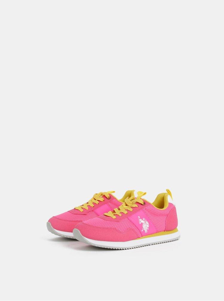 Růžové dámské tenisky U.S. Polo Assn.