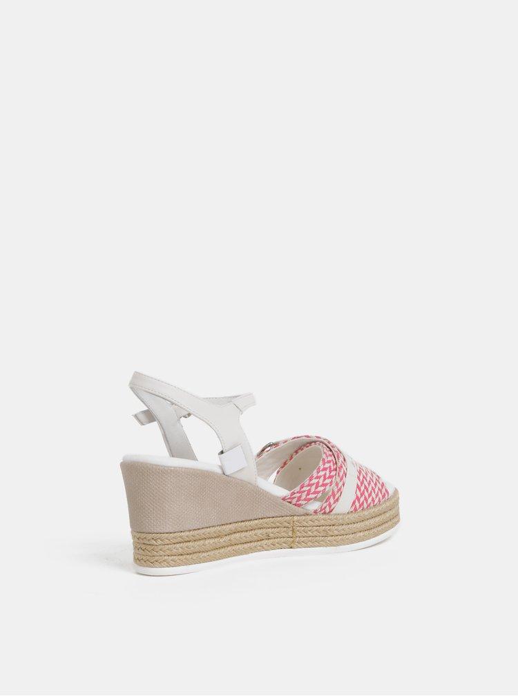Krémovo-růžové dámské sandály na klínku U.S. Polo Assn.