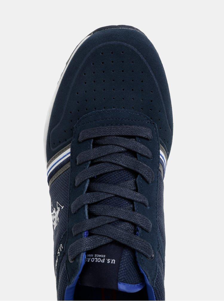 Tmavě modré pánské semišové tenisky U.S. Polo Assn.