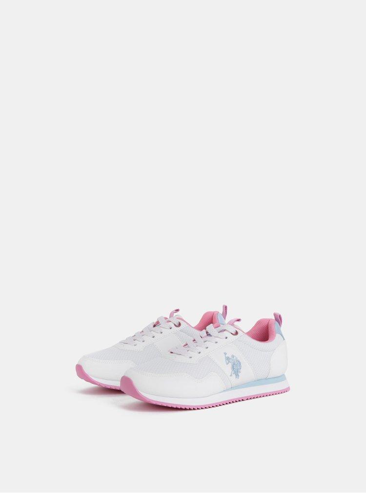 Pantofi sport albi de dama U.S. Polo Assn.
