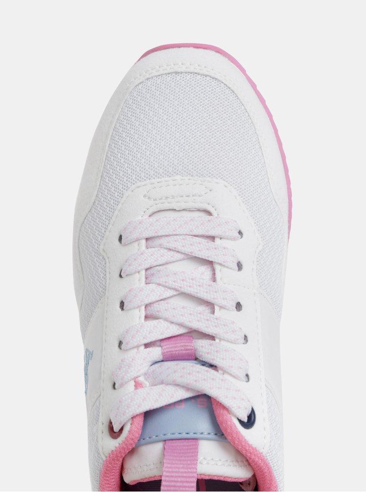Biele dámske tenisky U.S. Polo Assn.