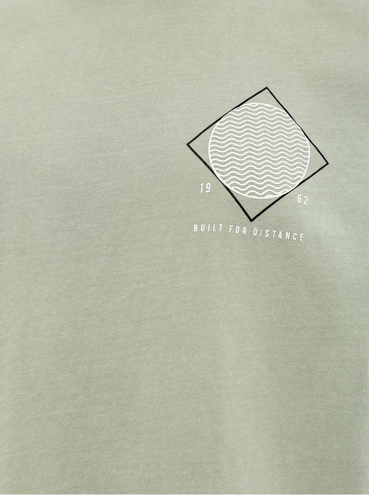 Tricou verde deschis cu imprimeu Shine Original