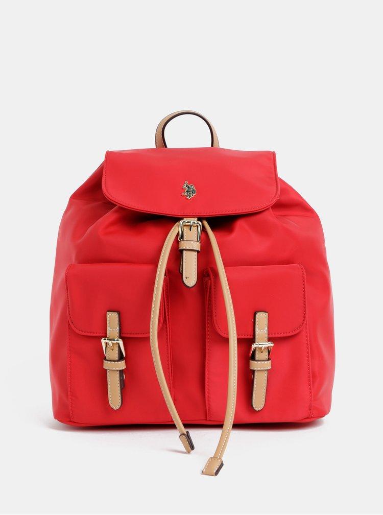 Červený dámský batoh U.S. Polo Assn.