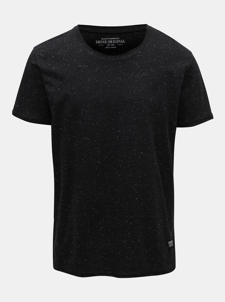 Čierne melírované tričko Shine Original
