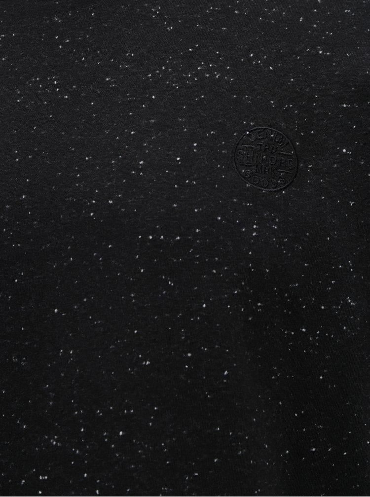 Tricou negru melanj Shine Original