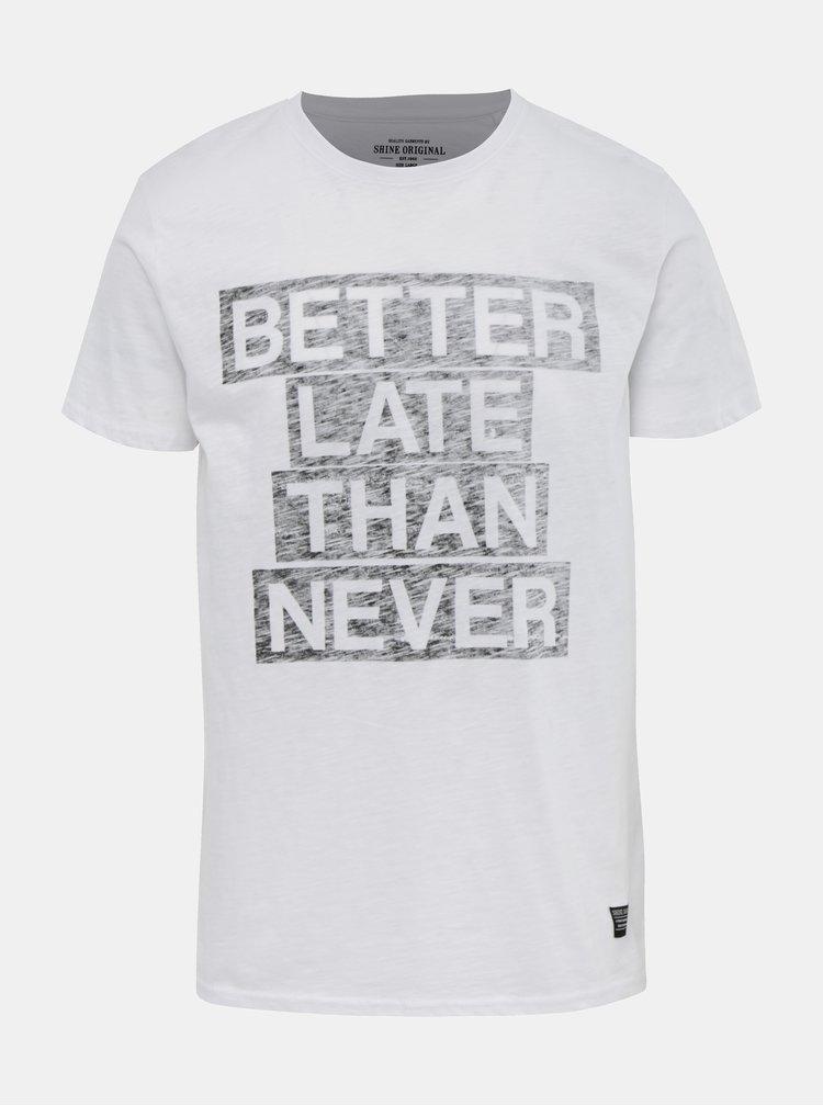 Tricou alb cu imprimeu Shine Original