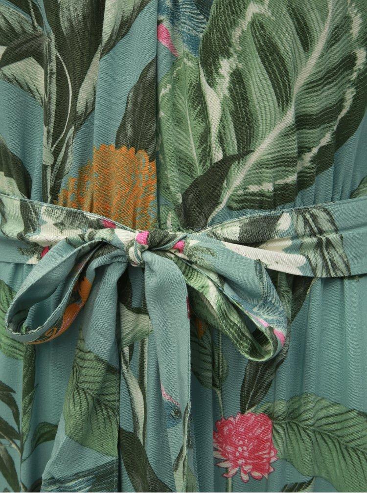 Zelené květované maxišaty VERO MODA Simply