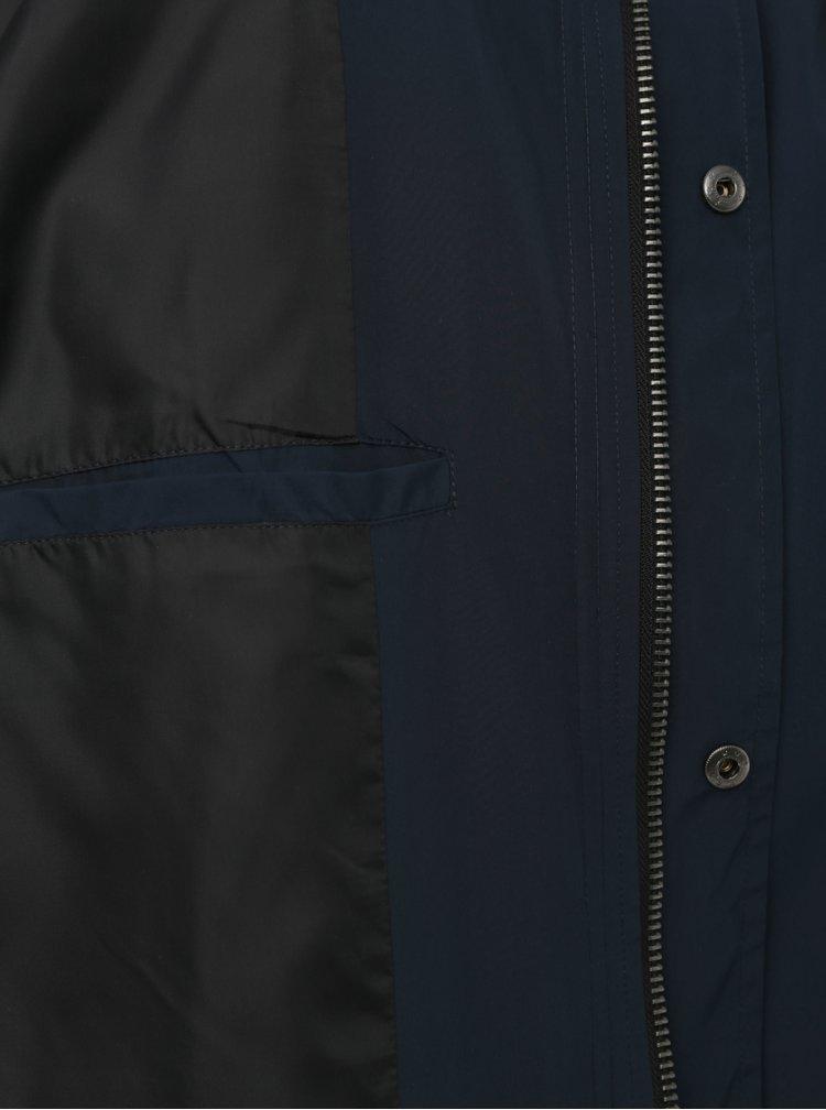 Tmavomodrý tenký kabát Shine Original