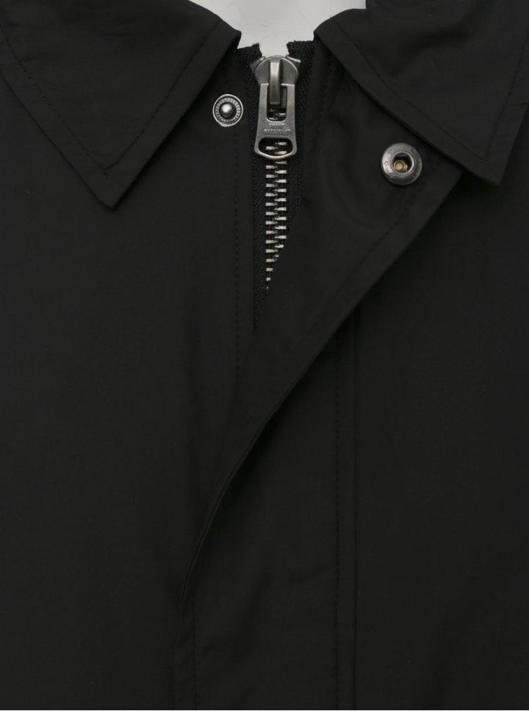 Čierny tenký kabát Shine Original