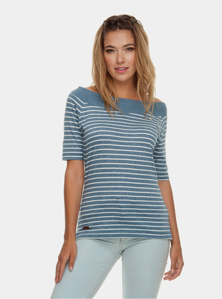 Modré dámské pruhované tričko Ragwear Seina