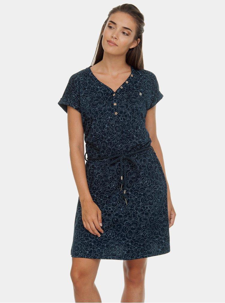 Tmavě modré vzorované šaty Ragwear Britta
