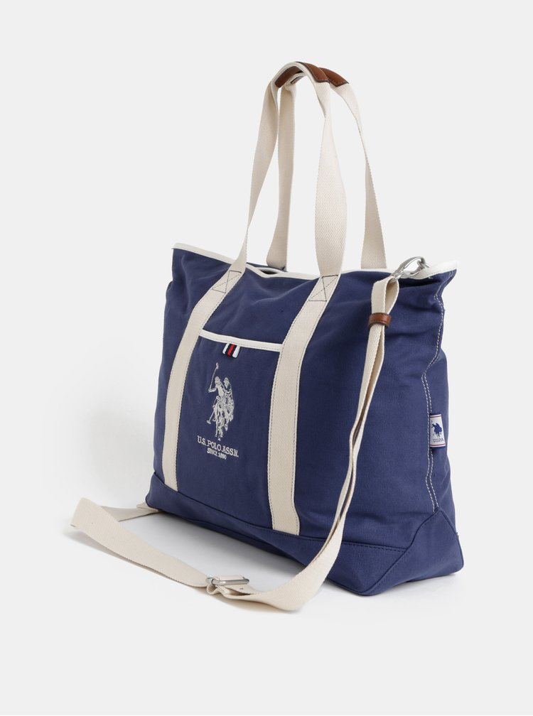 Geanta albastru inchis de dama U.S. Polo Assn.