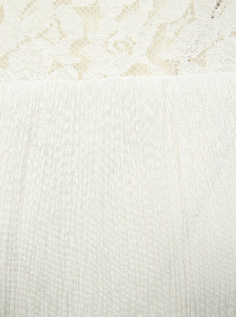 Bílý top s krajkovým sedlem ONLY Karmen
