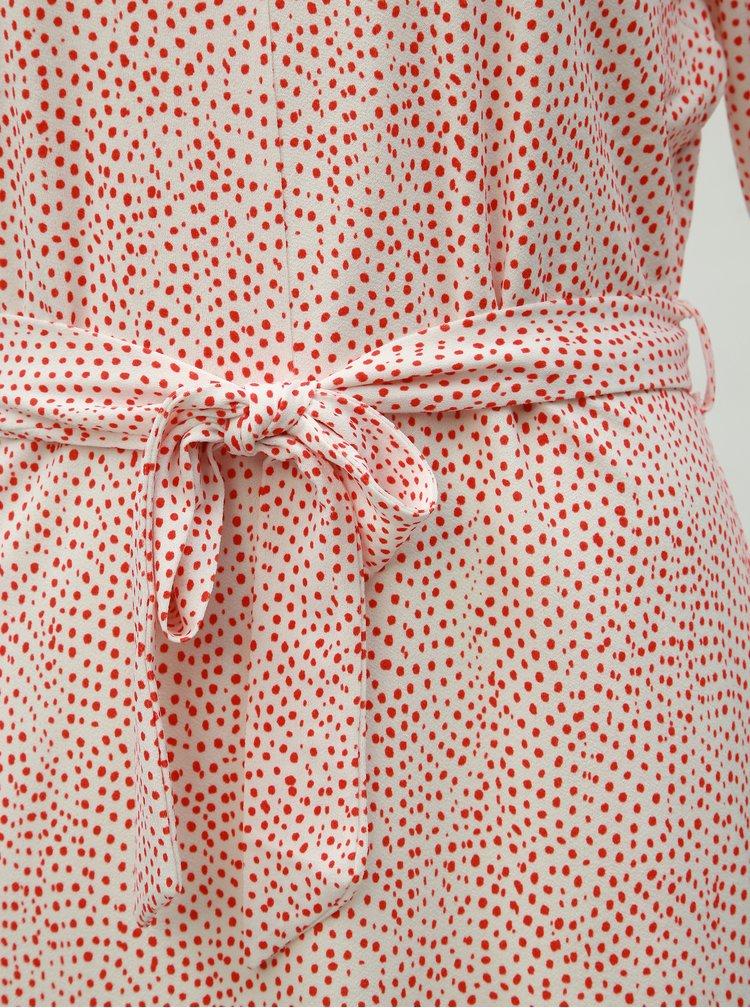 Biele bodkované šaty VERO MODA Tia