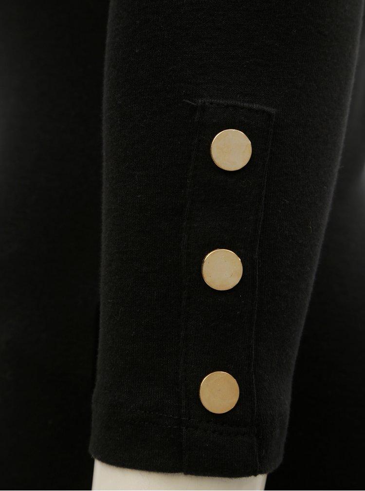 Tricou negru cu maneci 3/4 Dorothy Perkins