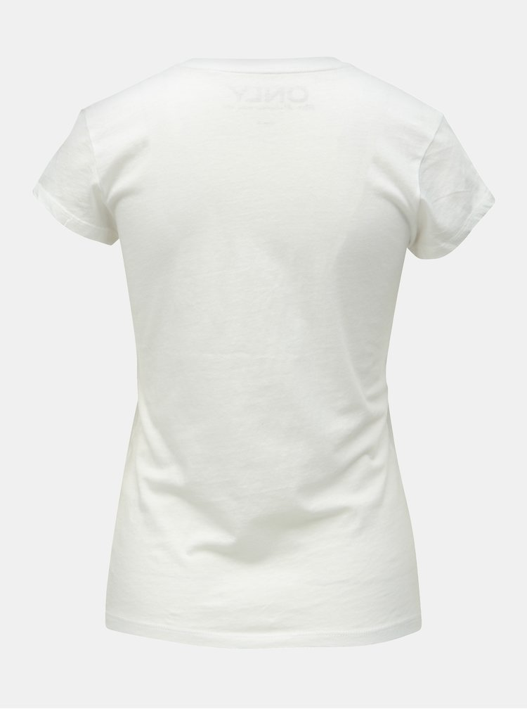 Tricou basic alb ONLY Cate