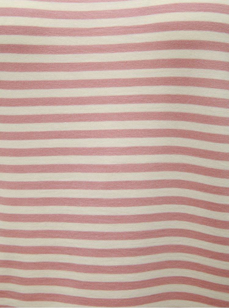 Tricou basic roz prafuit in dungi VERO MODA AWARE Ava
